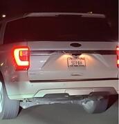 ماشین با پلاک سپاه در شهر هالیوود