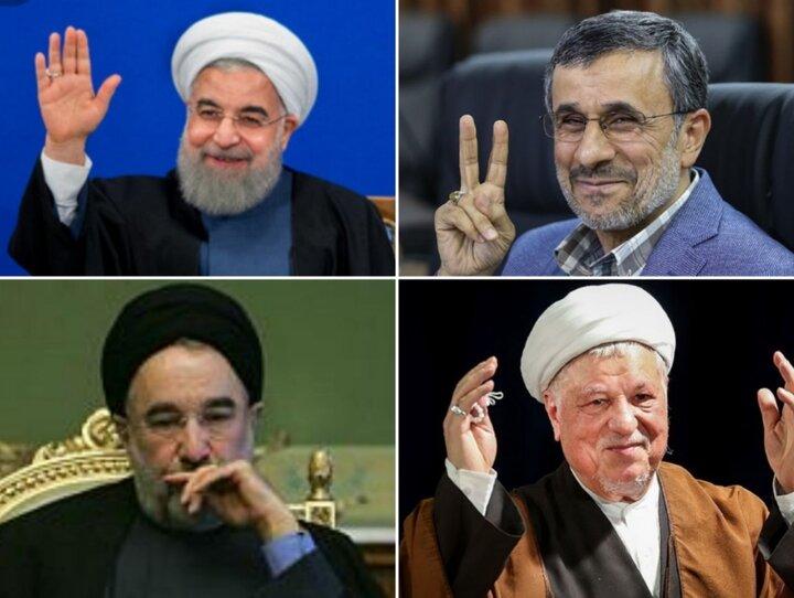 پیشتازی احمدی نژاد در برابر روحانی، خاتمی و هاشمی