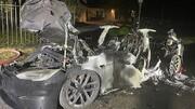 ارابه مرگ 130 هزار دلاری؛ آتش گرفتن جدیدترین مدل تسلا